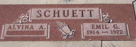 SCHUETT, ALVINA A. - Knox County, Nebraska | ALVINA A. SCHUETT - Nebraska Gravestone Photos