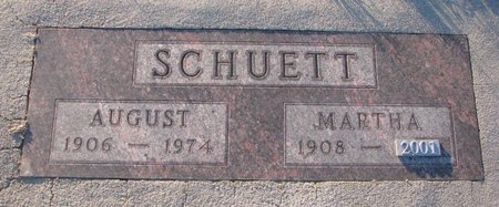 HILL SCHUETT, MARTHA RENO - Knox County, Nebraska | MARTHA RENO HILL SCHUETT - Nebraska Gravestone Photos