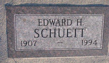 SCHUETT, EDWARD H. - Knox County, Nebraska | EDWARD H. SCHUETT - Nebraska Gravestone Photos