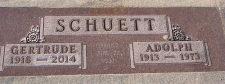 SCHUETT, GERTRUDE - Knox County, Nebraska | GERTRUDE SCHUETT - Nebraska Gravestone Photos