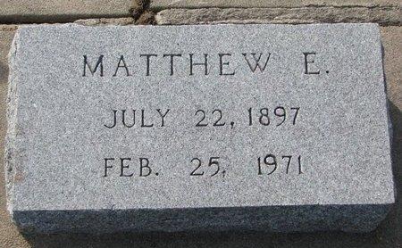 SEECK, MATTHEW E. - Knox County, Nebraska | MATTHEW E. SEECK - Nebraska Gravestone Photos