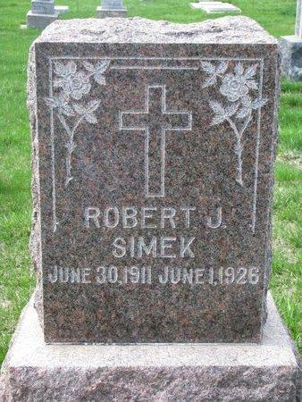 SIMEK, ROBERT J. - Knox County, Nebraska | ROBERT J. SIMEK - Nebraska Gravestone Photos