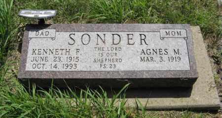 SONDER, AGNES M. - Knox County, Nebraska   AGNES M. SONDER - Nebraska Gravestone Photos