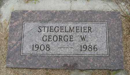 STIEGELMEIER, GEORGE W. - Knox County, Nebraska | GEORGE W. STIEGELMEIER - Nebraska Gravestone Photos