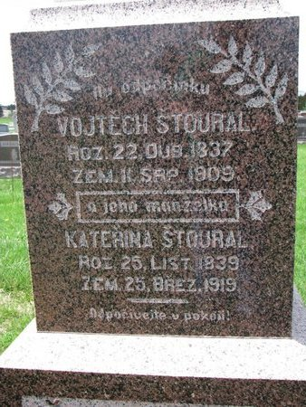 STOURAL, VOJTECH (CLOSE UP) - Knox County, Nebraska | VOJTECH (CLOSE UP) STOURAL - Nebraska Gravestone Photos