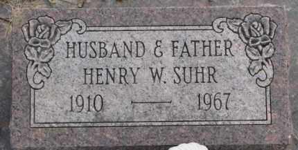 SUHR, HENRY W. - Knox County, Nebraska | HENRY W. SUHR - Nebraska Gravestone Photos