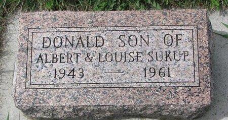 SUKUP, DONALD - Knox County, Nebraska | DONALD SUKUP - Nebraska Gravestone Photos