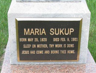 SUKUP, MARIA (CLOSE UP) - Knox County, Nebraska | MARIA (CLOSE UP) SUKUP - Nebraska Gravestone Photos