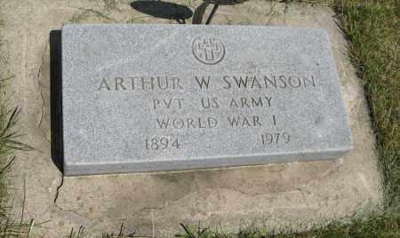 SWANSON, ARTHUR W. - Knox County, Nebraska   ARTHUR W. SWANSON - Nebraska Gravestone Photos