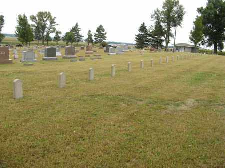 *THABOR, (VIEW OF UNKNOWN STONES) - Knox County, Nebraska | (VIEW OF UNKNOWN STONES) *THABOR - Nebraska Gravestone Photos