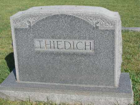 THIEDICH, PLOT STONE - Knox County, Nebraska | PLOT STONE THIEDICH - Nebraska Gravestone Photos