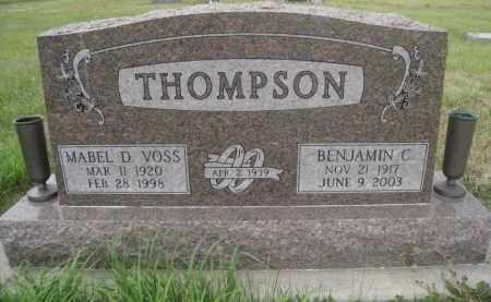 THOMPSON, BENJAMIN C - Knox County, Nebraska | BENJAMIN C THOMPSON - Nebraska Gravestone Photos
