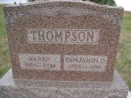 THOMPSON, BENJAMIN O. - Knox County, Nebraska   BENJAMIN O. THOMPSON - Nebraska Gravestone Photos
