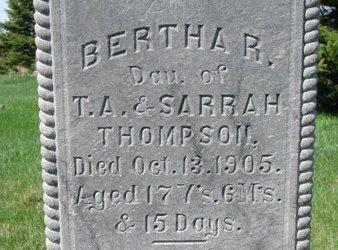 THOMPSON, BERTHA REGINA (CLOSE UP) - Knox County, Nebraska | BERTHA REGINA (CLOSE UP) THOMPSON - Nebraska Gravestone Photos