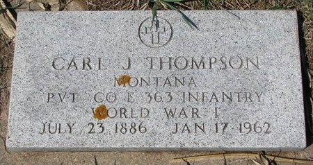 THOMPSON, CARL J. - Knox County, Nebraska | CARL J. THOMPSON - Nebraska Gravestone Photos