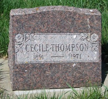 THOMPSON, CECILE MAY - Knox County, Nebraska | CECILE MAY THOMPSON - Nebraska Gravestone Photos