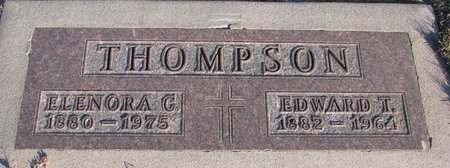 THOMPSON, EDWARD T. - Knox County, Nebraska | EDWARD T. THOMPSON - Nebraska Gravestone Photos