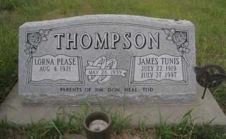 THOMPSON, JAMES TUNIS - Knox County, Nebraska | JAMES TUNIS THOMPSON - Nebraska Gravestone Photos