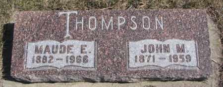 THOMPSON, JOHN M. - Knox County, Nebraska | JOHN M. THOMPSON - Nebraska Gravestone Photos