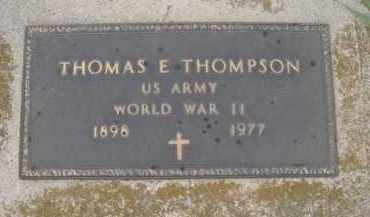 THOMPSON, THOMAS E - Knox County, Nebraska | THOMAS E THOMPSON - Nebraska Gravestone Photos