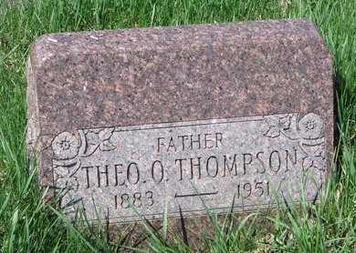 THOMPSON, THEODORE O. - Knox County, Nebraska | THEODORE O. THOMPSON - Nebraska Gravestone Photos