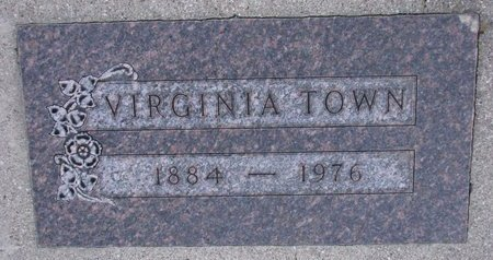 TOWN, MARTHA VIRGINIA - Knox County, Nebraska | MARTHA VIRGINIA TOWN - Nebraska Gravestone Photos