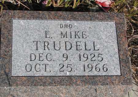 TRUDELL, L. MIKE - Knox County, Nebraska | L. MIKE TRUDELL - Nebraska Gravestone Photos