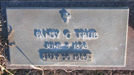CLARENCE TRUE, PANSY GLADYS - Knox County, Nebraska | PANSY GLADYS CLARENCE TRUE - Nebraska Gravestone Photos