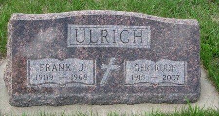 ULRICH, FRANK J. - Knox County, Nebraska | FRANK J. ULRICH - Nebraska Gravestone Photos