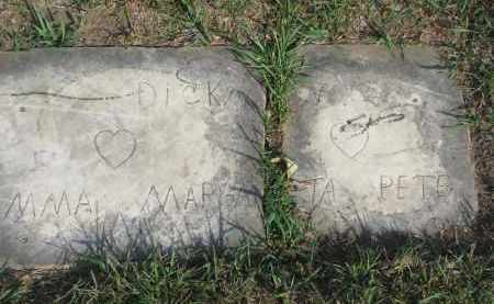 DICKMAN, PETE - Knox County, Nebraska | PETE DICKMAN - Nebraska Gravestone Photos