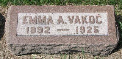VAKOC, EMMA A. - Knox County, Nebraska   EMMA A. VAKOC - Nebraska Gravestone Photos