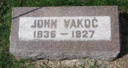 VAKOC, JOHN - Knox County, Nebraska | JOHN VAKOC - Nebraska Gravestone Photos