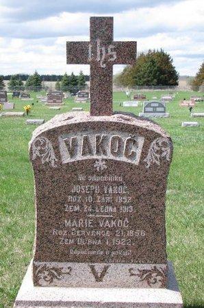 JEDLICKA VAKOC, MARIE - Knox County, Nebraska | MARIE JEDLICKA VAKOC - Nebraska Gravestone Photos
