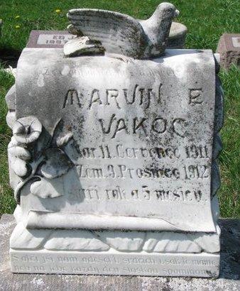 VAKOC, MARVIN E. - Knox County, Nebraska | MARVIN E. VAKOC - Nebraska Gravestone Photos