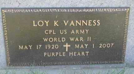 VANNESS, LOY K. (WW II) - Knox County, Nebraska | LOY K. (WW II) VANNESS - Nebraska Gravestone Photos