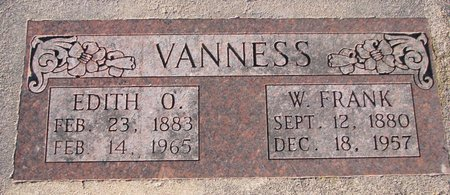 VANNESS, WILLIAM FRANK - Knox County, Nebraska   WILLIAM FRANK VANNESS - Nebraska Gravestone Photos