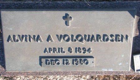 VOLQUARDSEN, ALVINA A. - Knox County, Nebraska | ALVINA A. VOLQUARDSEN - Nebraska Gravestone Photos