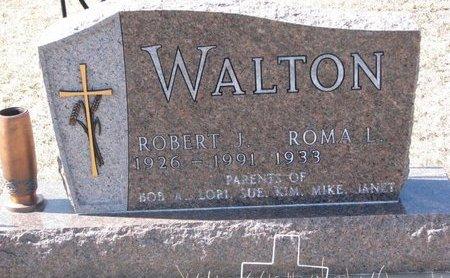 WALTON, ROBERT J. - Knox County, Nebraska | ROBERT J. WALTON - Nebraska Gravestone Photos