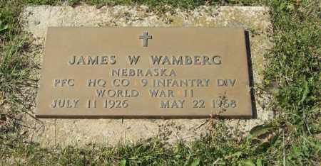 WAMBERG, JAMES W. (MILITARY) - Knox County, Nebraska | JAMES W. (MILITARY) WAMBERG - Nebraska Gravestone Photos