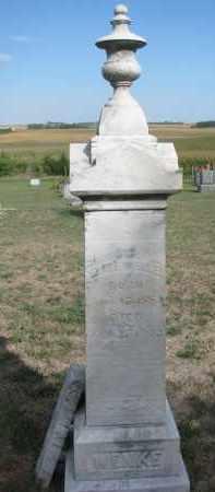 WENKE, ELISE - Knox County, Nebraska   ELISE WENKE - Nebraska Gravestone Photos