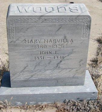 HART WOODS, MARY MARVILLA - Knox County, Nebraska | MARY MARVILLA HART WOODS - Nebraska Gravestone Photos