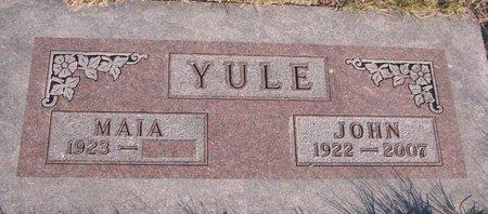 YULE, MAIA - Knox County, Nebraska | MAIA YULE - Nebraska Gravestone Photos