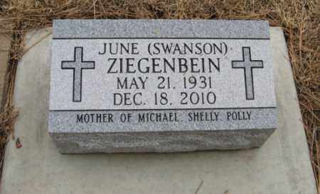 SWANSON ZIEGENBEIN, JUNE - Knox County, Nebraska | JUNE SWANSON ZIEGENBEIN - Nebraska Gravestone Photos