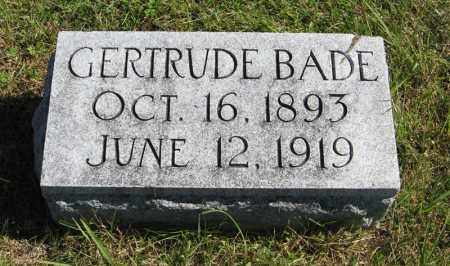 BADE, GERTRUDE - Lancaster County, Nebraska | GERTRUDE BADE - Nebraska Gravestone Photos