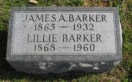 BARKER, JAMES A. - Lancaster County, Nebraska | JAMES A. BARKER - Nebraska Gravestone Photos