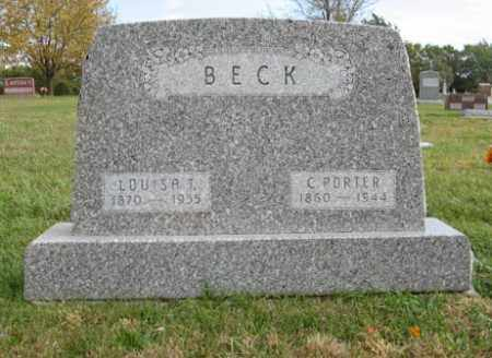 BECK, C. PORTER - Lancaster County, Nebraska | C. PORTER BECK - Nebraska Gravestone Photos