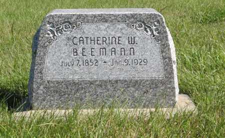 BEEMANN, CATHERINE W. - Lancaster County, Nebraska | CATHERINE W. BEEMANN - Nebraska Gravestone Photos