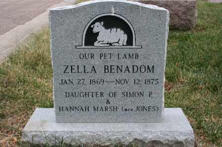 BENADOM, ZELLA - Lancaster County, Nebraska | ZELLA BENADOM - Nebraska Gravestone Photos