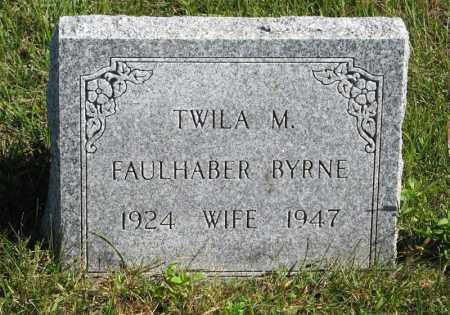 FAULHABER BYRNE, TWILA M. - Lancaster County, Nebraska | TWILA M. FAULHABER BYRNE - Nebraska Gravestone Photos