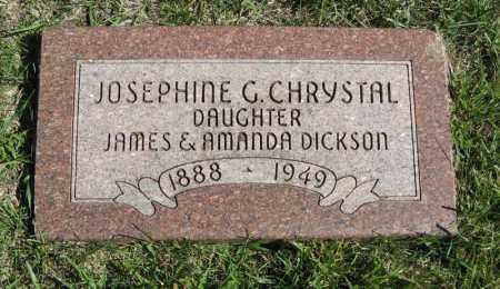 DICKSON CHRYSTAL, JOSEPHINE G. - Lancaster County, Nebraska | JOSEPHINE G. DICKSON CHRYSTAL - Nebraska Gravestone Photos